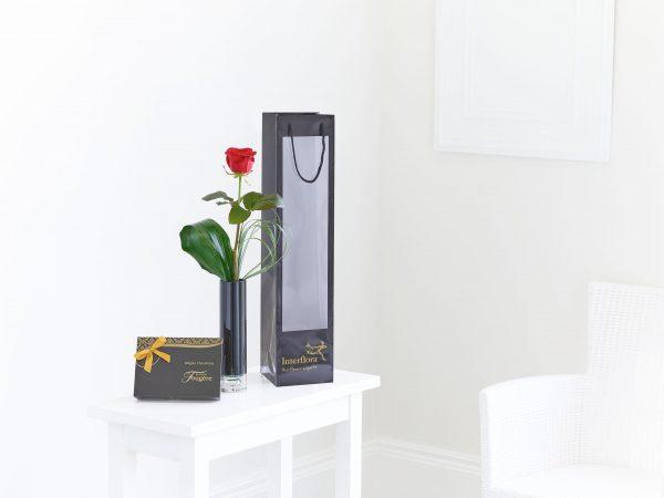 Singe Red Rose Gift Set