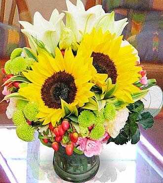 Arragmnt in Vase Yellow