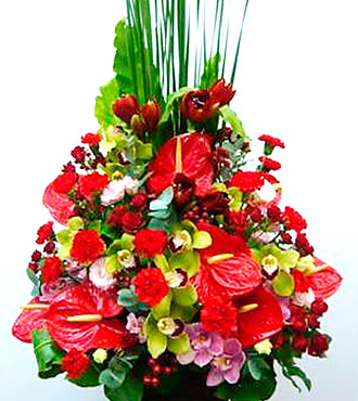 Argmt of Cut Flower -Red