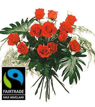 12 Red Max Havelaar Roses