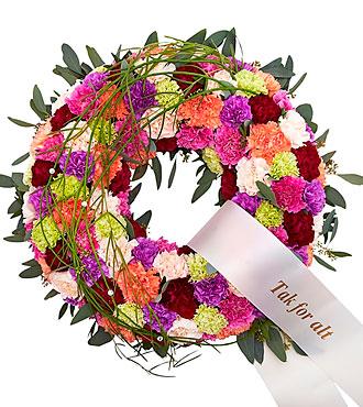 Decorated Wreath w/Ribbon