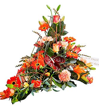 Funeral Decor with Ribbon
