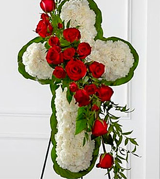 Floral Cross Easel